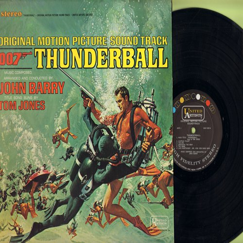 Barry, John - Thunderball - Original Motion Picture Sound Track arranged and conducted by John Barry featuring Title Song by Tom Jones (Vinyl STEREO LP record) - M10/EX8 - LP Records