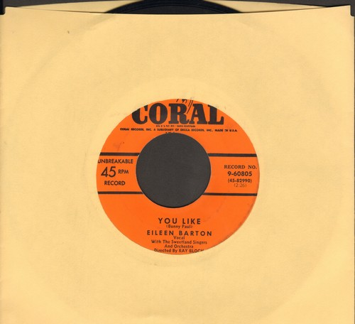Barton, Eileen - You Like/You Intrigue Me - VG7/ - 45 rpm Records