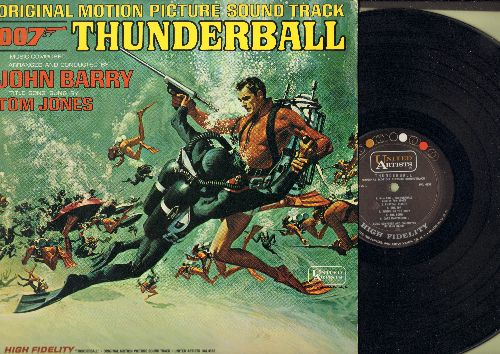 Barry, John - Thunderball - Original Motion Picture Sound Track arranged and conducted by John Barry featuring Title Song by Tom Jones (Vinyl MONO LP record) - NM9/EX8 - LP Records