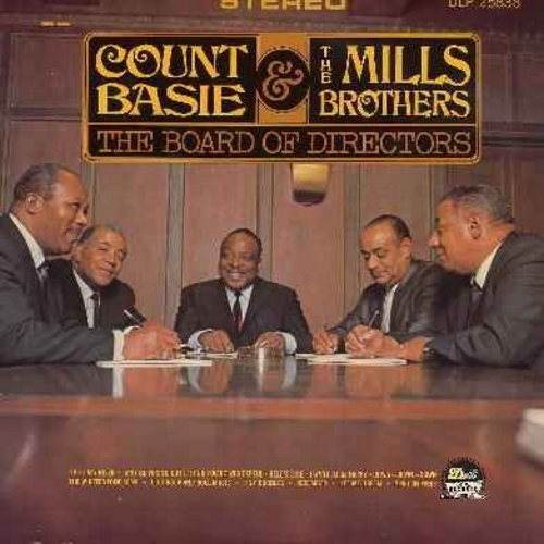 Basie, Count & Mills Brothers - The Board Of Directors: Release Me, Up A Lazy River, I Want To Be Happy, Tiny Bubbles, April In Paris, Let Me Dream (Vinyl STEREO LP record) - VG7/NM9 - LP Records
