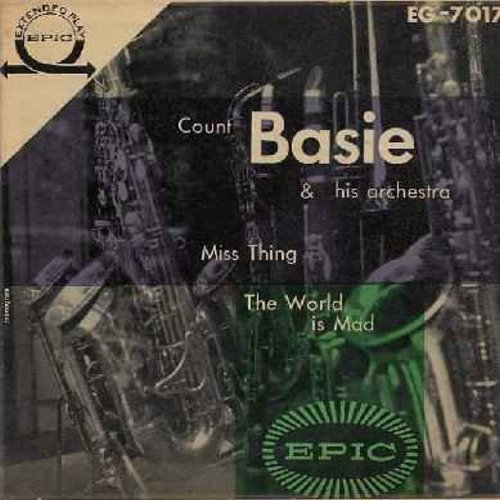 Basie, Count & His Orchestra - Miss Thing/The World Is Mad (Vinyl EP record - 4 tracks - with picture cover) - EX8/EX8 - 45 rpm Records