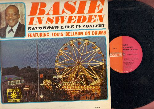 Basie, Count & His Orchestra - Basie In Sweden - Recorded Live In Concert - featuring Louis Bellson On Drums (vinyl LP record) - EX8/EX8 - LP Records