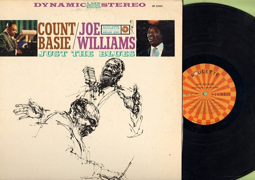 Basie, Count & Joe Williams - Just The Blues: Confessin' The Blues, Mean Old World, Lyin' Woman, Tomorrow Night, Chains Of Love (Vinyl STEREO LP record) - EX8/VG7 - LP Records