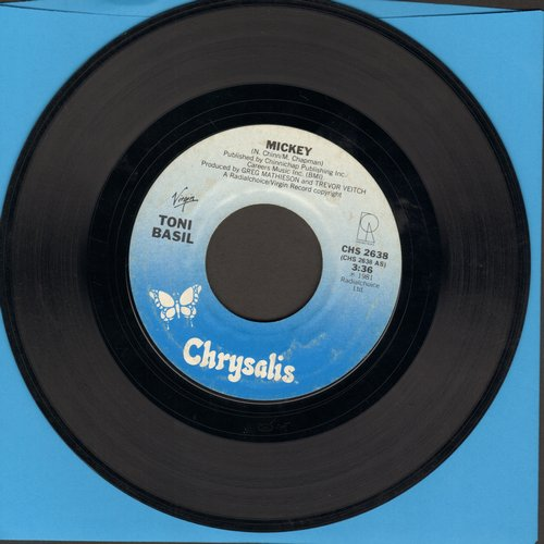 Basil, Toni - Mickey (PARTY FAVORITE!)/Thief On The Loose (with juke box label) - EX8/ - 45 rpm Records