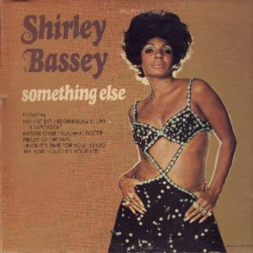 Bassey, Shirley - Something Else: Bridge Over Troubled Water, (Where Do I Begin) Love Story, What's Done Is Done, It's Impossible (Vinyl STEREO LP record, gate-fold cover) - NM9/VG7 - LP Records
