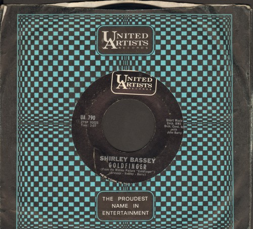 Bassey, Shirley - Goldfinger/Strange How Love Can Be  - EX8/ - 45 rpm Records