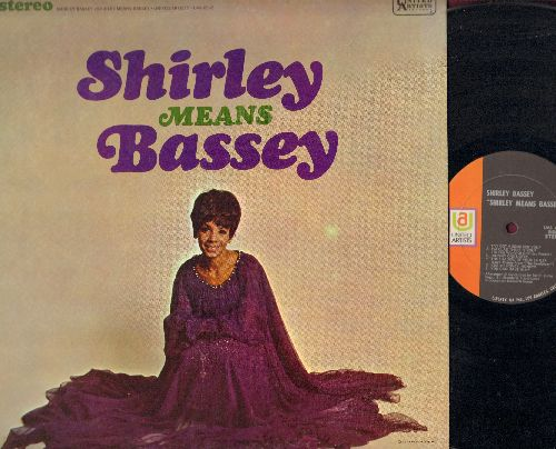 Bassey, Shirley - Shirley Means Bassey: Johnny One Note, The Shadow Of Your Smile, Strangers In The Night, The Sound Of Music (vinyl STEREO LP record) - NM9/EX8 - LP Records