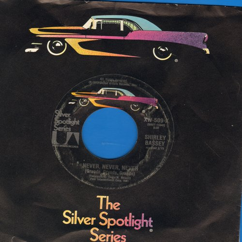 Bassey, Shirley - Never, Never, Never (Grande, Grande, Grande)/Something  (early double-hit  re-issue with company sleeve) - NM9/ - 45 rpm Records