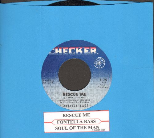 Bass, Fontella - Rescue Me/Soul Of The Man (second pressing with juke box label) - NM9/ - 45 rpm Records