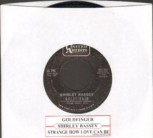 Bassey, Shirley - Goldfinger/Strange How Love Can Be (NICE condition with juke box label) - NM9/ - 45 rpm Records