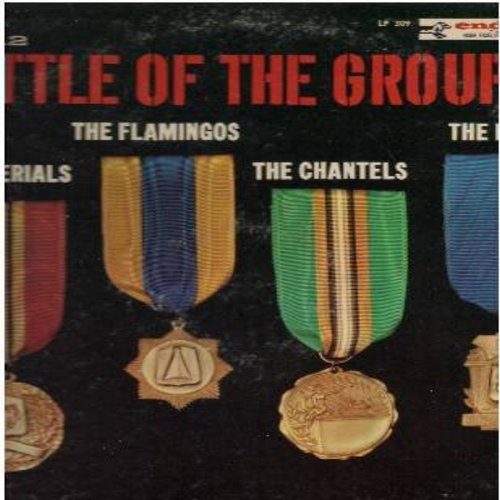 Little Anthony & The Imperials, Flamingos, Chantels, Dubs - Battle Of The Groups Vol. 2: I'm Allright, Lovers Never Say Goodbye, Shimmy Shimmy Ko-Ko Bop, Never Let Go (Vinyl MONO LP record) - NM9/VG7 - LP Records
