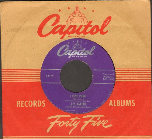 Baxter, Les & Orchestra & Chorus - I Love Paris/Gigi (with vintage Capitol company sleeve) - EX8/ - 78 rpm