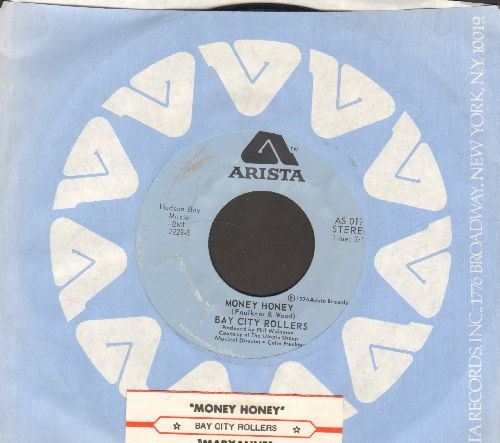Bay City Rollers - Money Honey/Maryanne (with Arista company sleeve and juke box label) - NM9/ - 45 rpm Records