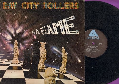 Bay City Rollers - It's A Game: You Made Me Believe In Magic, The Way I Feel Tonight, Love Fever, Inside A Broken Dream (Vinyl LP record, gate-fold cover) - NM9/EX8 - LP Records