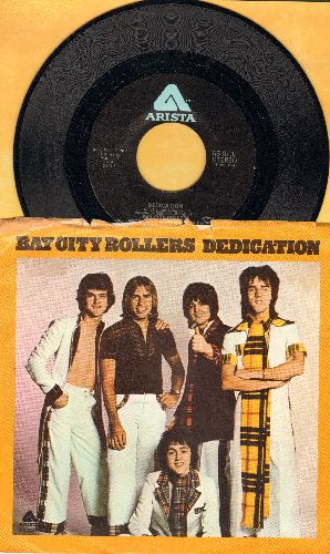 Bay City Rollers - Dedication/Rock N' Roller (with picture sleeve) - M10/VG7 - 45 rpm Records