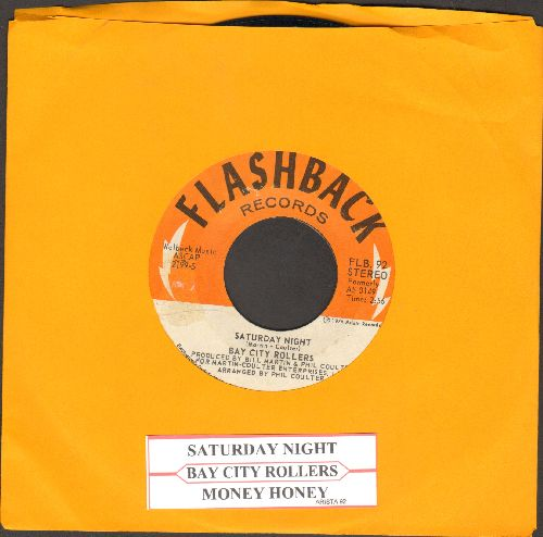 Bay City Rollers - Saturday Night (PARTY FAVORITE!)/Money Honey (double-hit re-issue with juke box label) - NM9/ - 45 rpm Records
