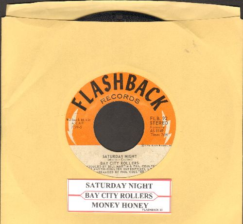Bay City Rollers - Saturday Night (PARTY FAVORITE!)/Money Honey (double-hit re-issue with juke box label) - EX8/ - 45 rpm Records