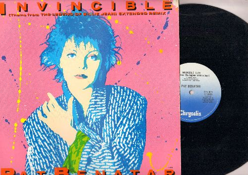 Benatar - Invincible (5:29 minutes)/Invincible (4:23 Instrumental) (12 inch vinyl Maxi Single with picture cover) - EX8/EX8 - LP Records