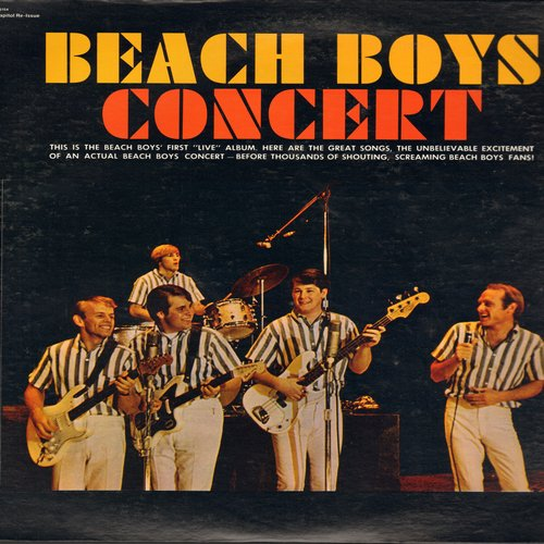 Beach Boys - Concert: Monster Mash, Papa-Oom-Mow-Mow, I get Around, Johnny B. Goode, The Wanderer (Vinyl STEREO LP record, green label re-issue) - M10/NM9 - LP Records
