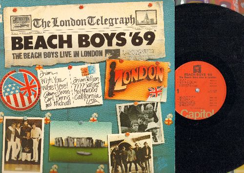 Beach Boys - Beach Boys '69: Darlin', Wouldn't It Be Nice, Sloop John B, California Girls, God Vibrations, Barbara Ann (vinyl STEREO LP record) - EX8/EX8 - LP Records