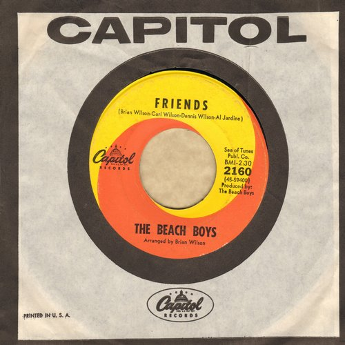 Beach Boys - Friends/Little Bird (with vintage Capitol company sleeve) - EX8/ - 45 rpm Records