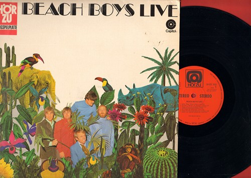Beach Boys - Beach Boys Live: Wouldn't It Be Nice, California Girls, Barbara Ann, Good Vibrations (Vinyl STEREO LP record, German Pressing) - NM9/VG7 - LP Records
