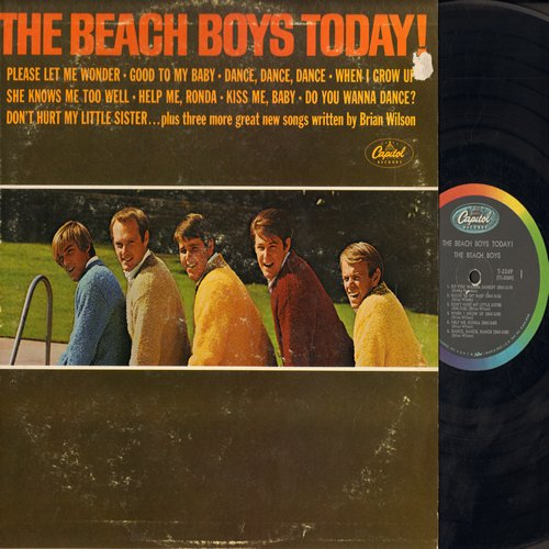 Beach Boys - The Beach Boys Today!: When I Grow Up, Help Me Rhonda, Do You Wanna Dance? (Vinyl MONO LP record) - VG7/VG7 - LP Records