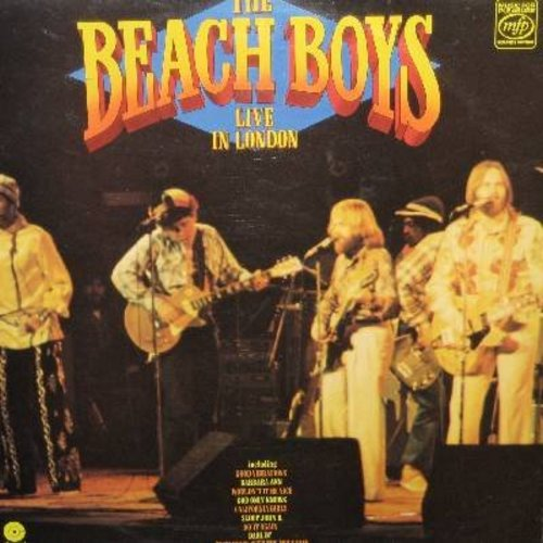Beach Boys - Beach Boys Live in London: Darlin', Sloop John B., California Girls, Barbara Ann, Good Vibrations (Vinyl STEREO LP record, British Pressing) - NM9/EX8 - LP Records