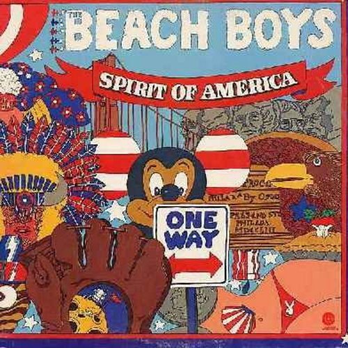 Beach Boys - Spirit Of America: Little Honda, 409, Why Do Fools Fall In Love, Barbara Ann, Do You Wanna Dance? (2 vinyl LP record set, gate-fold cover) - NM9/EX8 - LP Records