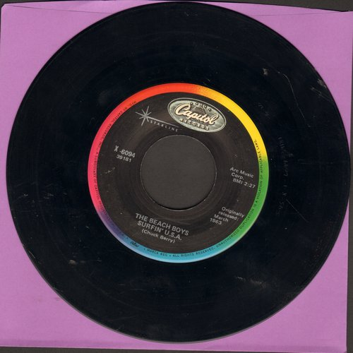 Beach Boys - Surfin' U.S.A./Shut Down (re-issue) - NM9/ - 45 rpm Records