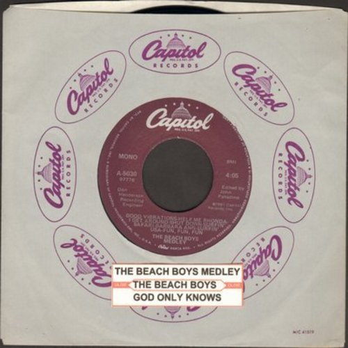 Beach Boys - The Beach Boys Medley/God Only Knows - EX8/ - 45 rpm Records