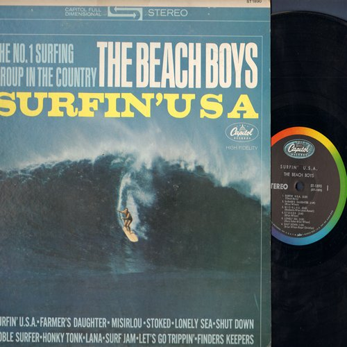 Beach Boys - Surfin' USA: Misirlou, Shut Down, Noble Surfer, Let's Go Trippin', Finders Keepers, Honky Tonk. Lana (Vinyl STEREO LP record) - VG7/VG7 - LP Records