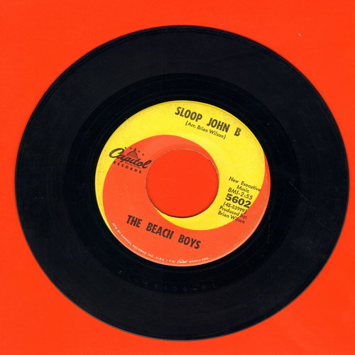 Beach Boys - Sloop John B/You're So Good To Me (orange/yellow swirl first issue)(wol) - EX8/ - 45 rpm Records