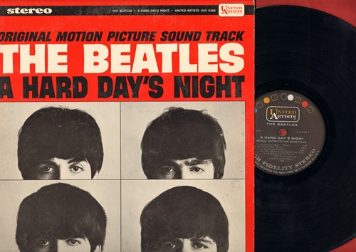 Beatles - A Hard Day's Night - Original Motion Picture Sound Track: Tell Me Why, If I Fell, And I love Her, Can't Buy Me Love, I'm Happy Just To Dance With You (Vinyl STEREO LP record) - VG7/VG7 - LP Records