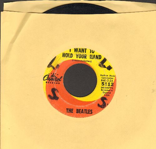 Beatles - I Want To Hold Your Hand/I Saw Her Standing There (first pressing)(wol/wos) - VG6/ - 45 rpm Records