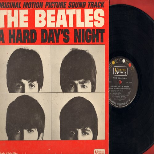 Beatles - A Hard Day's Night - Original Motion Picture Sound Track: Tell Me Why, If I Fell, And I love Her, Can't Buy Me Love, I'm Happy Just To Dance With You (Vinyl MONO LP record) - VG7/VG7 - LP Records