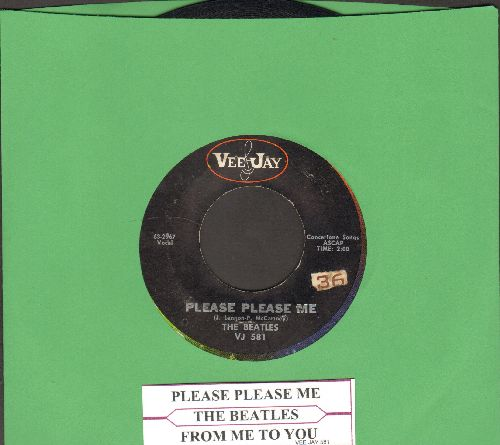 Beatles - Please Please Me/From Me To You (rainbow cirle, with juke box label) - VG7/ - 45 rpm Records