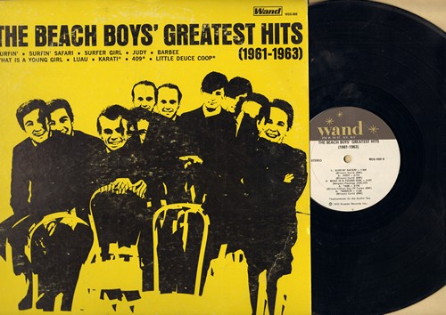 Beach Boys - The Beach Boys' Greatest Hits (1961-1963): Surfer Girl, Barbee, Surfin' Safari, Little Deuce Coupe, 409, Karate (Vinyl STEREO LP record, 1972 issue of vintage recordings) - NM9/VG7 - LP Records