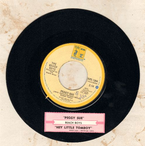 Beach Boys - Peggy Sue/Hey Little Tomboy (1980s issue with juke box label) - NM9/ - 45 rpm Records