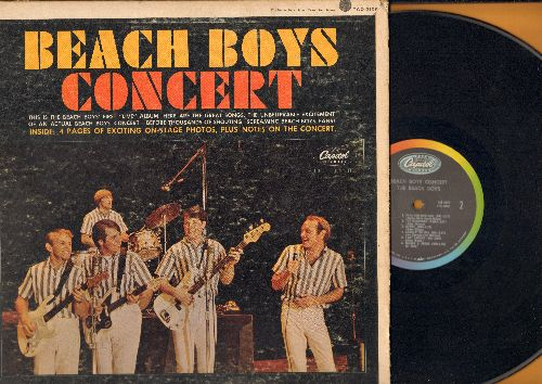 Beach Boys - Concert: Monster Mash, Papa-Oom-Mow-Mow, I get Around, Johnny B. Goode, The Wanderer (Vinyl STEREO LP record, rainbow cirlce labl first pressing, gate-fold cover) - VG7/VG7 - LP Records