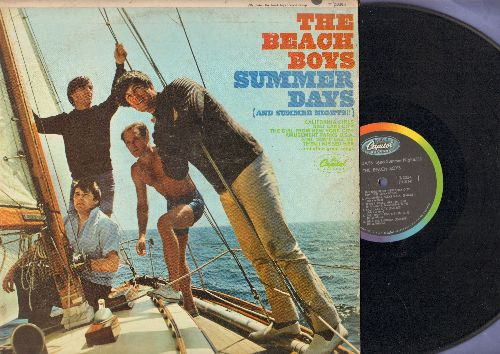 Beach Boys - Summer Days (And Summer Nights!!): California Gilrs, Then I Kissed Her, Salt Lake City, Help Me Rhonda (Vinyl MONO LP record) - VG7/VG7 - LP Records