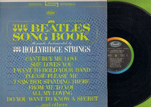 Hollyridge Strings - The Beatles Song Book: She Loves You, Can't Buy Me Love, I Want To Hold Your Hand, Do You Want To Know A Secret (Vinyl STEREO LP record) - NM9/NM9 - LP Records