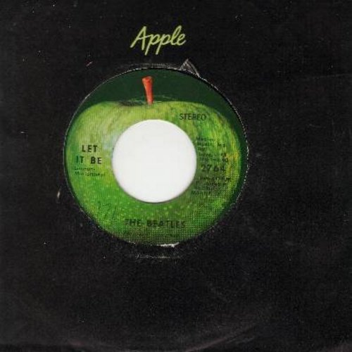 Beatles - Let It Be/You Know My Name Look Up My Number (with Apple company sleeve) - EX8/ - 45 rpm Records