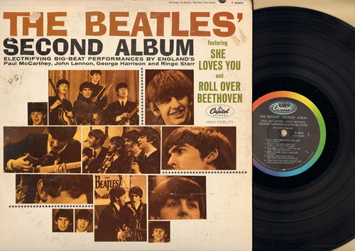 Beatles - The Beatles' Second Album: She Loves You, Roll Over Beethoven, Money, Please Mr. Postman, Long Tall Sally, I'll Get You (vinyl MONO LP record) (repress) - EX8/VG6 - LP Records