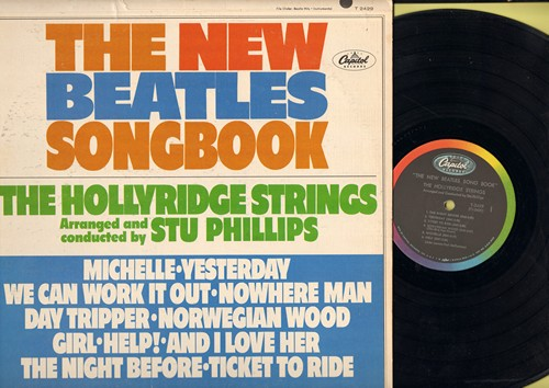 Hollyridge Strings - The New Beatles Songbook: Michelle, Yesterday, We Can Work It Out, Nowhere Man, And I Love Her, Ticket To Ride (Vinyl MONO LP record) - EX8/VG7 - LP Records