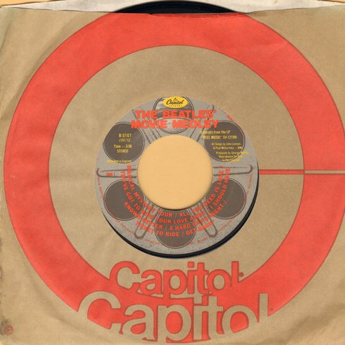 Beatles - The Beatles Movie Medley/I'm Happy Just To Dance With You (with Capitol company sleeve) - EX8/ - 45 rpm Records