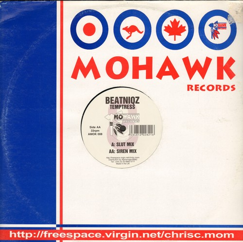 Beatniqz - Temptress: Slut Mix/Siren Mix (12 inch vinyl Maxi Single with compny cover, British Pressing) - NM9/ - 45 rpm Records