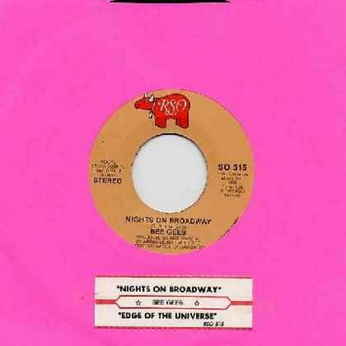 Bee Gees - Nights On Broadway/Edge Of The Universe (with juke box label) - EX8/ - 45 rpm Records