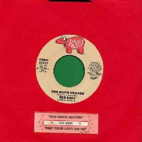 Bee Gees - Too Much Heaven/Rest Your Love On Me (with juke box label) - NM9/ - 45 rpm Records