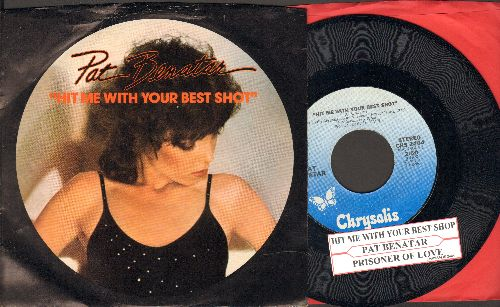 Benatar, Pat - Hit Me With Your Best Shot/Prisoner Of Love (with juke box label and picture sleeve) - NM9/EX8 - 45 rpm Records